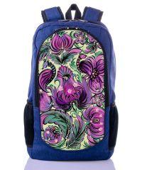 Городской рюкзак XYZ New Design РГ18107 Орнамент синий