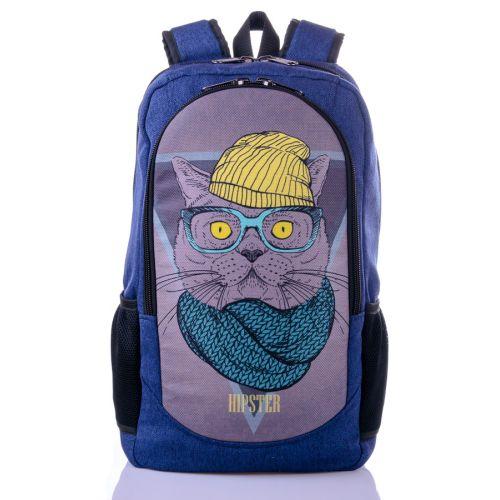 Городской рюкзак XYZ New Design РГ18117 Кот синий