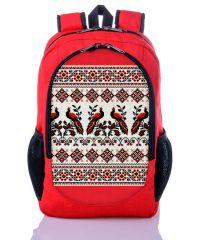 Городской рюкзак XYZ New Design РГ18303 Орнамент Птицы красный