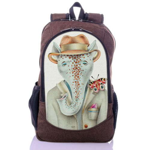 Городской рюкзак XYZ New Design РГ18603 Слоник коричневый