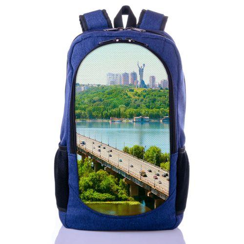 Городской рюкзак XYZ New Design РГ18108 Киев синий