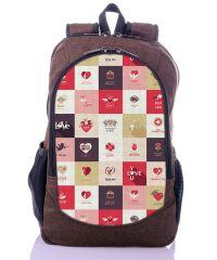 Городской рюкзак XYZ New Design РГ18605 Шахматы коричневый
