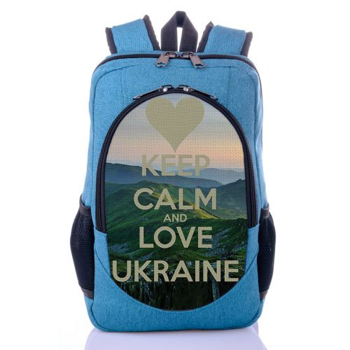 Городской рюкзак XYZ New Design РГ18202 Люблю Украину бирюза