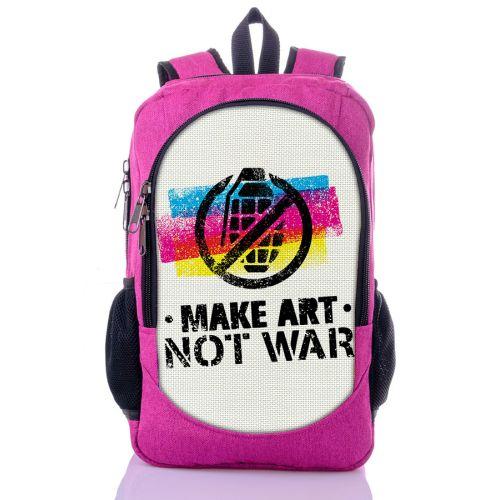 Городской рюкзак XYZ New Design РГ18504 Нет войне малиновый