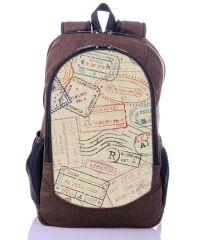 Городской рюкзак XYZ New Design РГ18606 Почта коричневый