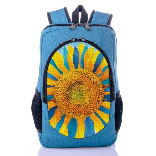 Городской рюкзак XYZ New Design РГ18203 Подсолнух бирюза