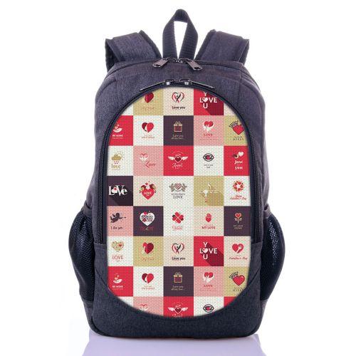 Городской рюкзак XYZ New Design РГ18409 Шахматы серый