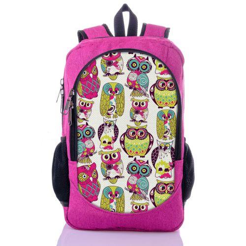 Городской рюкзак XYZ New Design РГ18506 Совки малиновый