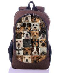 Городской рюкзак XYZ New Design РГ18608 Собачки коричневый