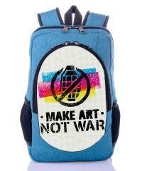 Городской рюкзак XYZ New Design РГ18205 Нет войне бирюза