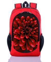 Городской рюкзак XYZ New Design РГ18309 Хризантема красный