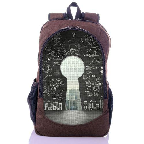 Городской рюкзак XYZ New Design РГ18609 Замок коричневый
