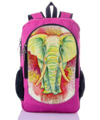 Городской рюкзак XYZ New Design РГ18508 Розовый Слон малиновый