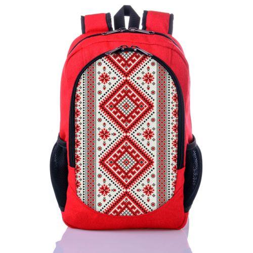 Городской рюкзак XYZ New Design РГ18301 Орнамент красный