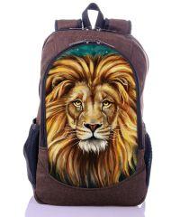 Городской рюкзак XYZ New Design РГ18601 Лев коричневый