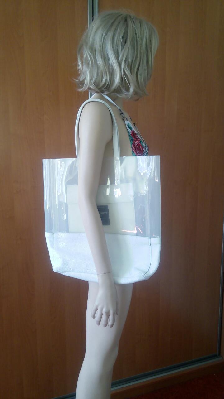 Белая силиконовая сумка PoolParty Carrie