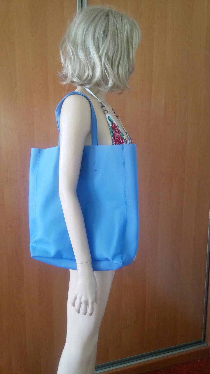 Голубая силиконовая сумка PoolParty City