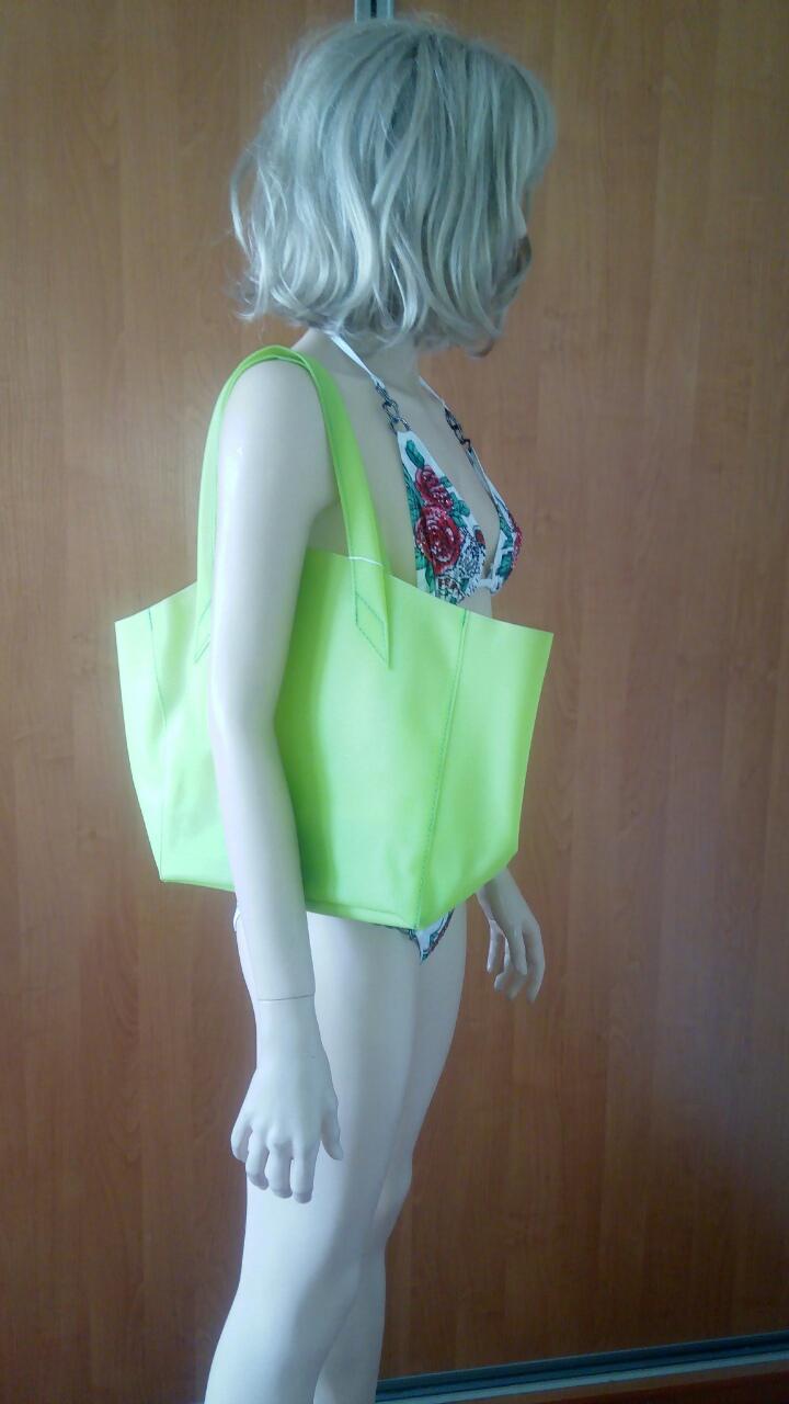 Зеленая силиконовая сумка PoolParty Fiore