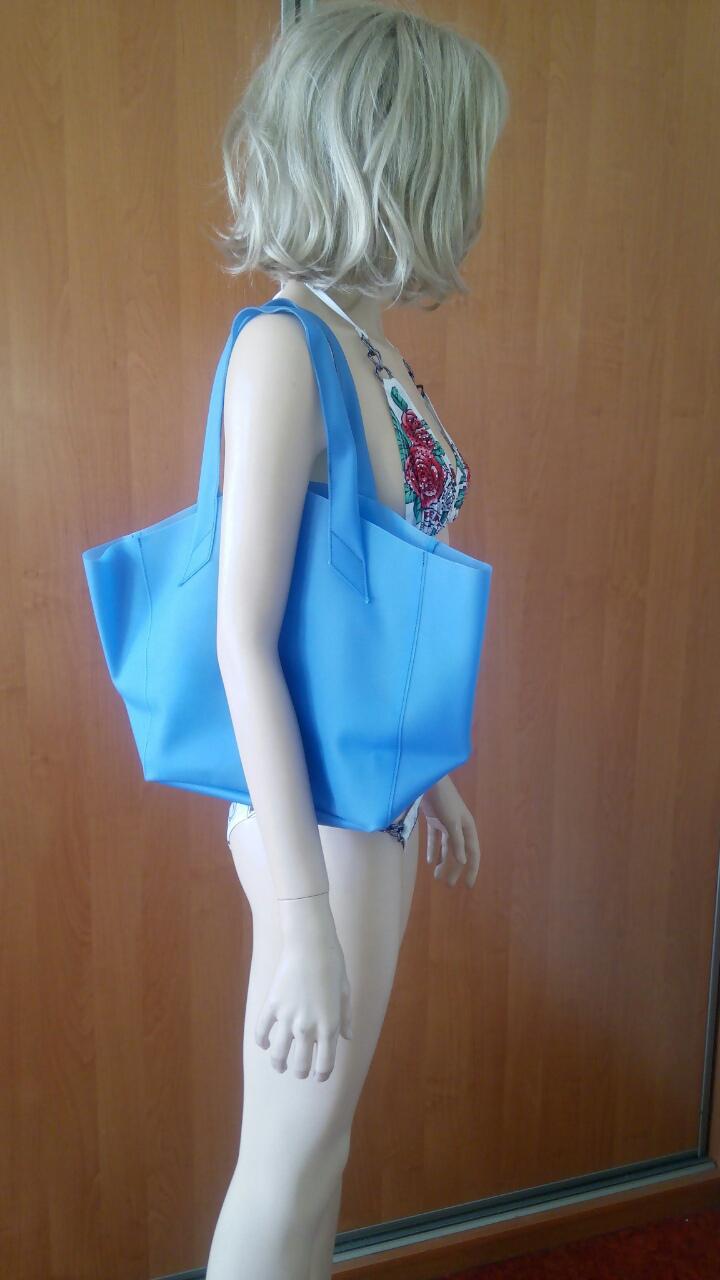 Голубая силиконовая сумка PoolParty Fiore