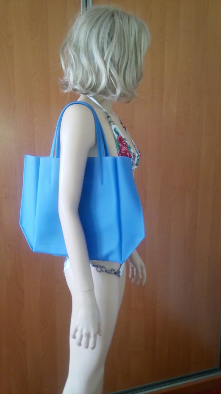 Синяя силиконовая сумка PoolParty Soho